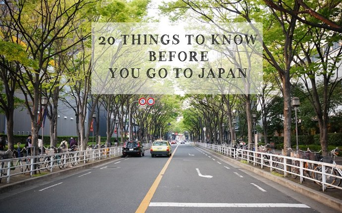 20 Things to know before you go to Japan