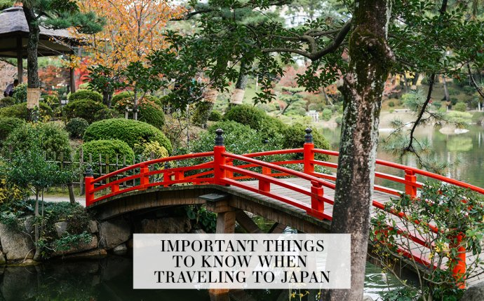 Important Things To Know and Travel Tips for Japan and East Asia